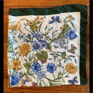 Vtg Barney 100% silk scarf made in Italy